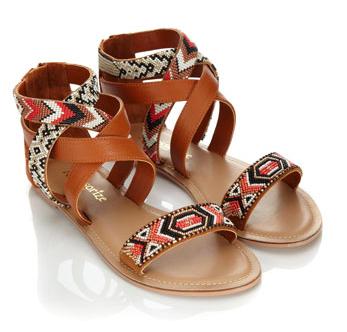 beaded flat sandals - monsoon