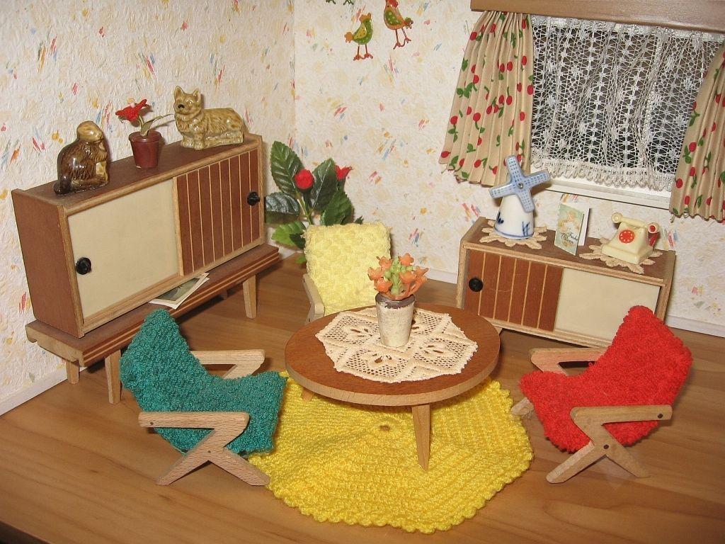 Ebay wohnzimmermöbel ~ 50 60er j wohnzi möbel crailsheimer puppenhaus puppenstube