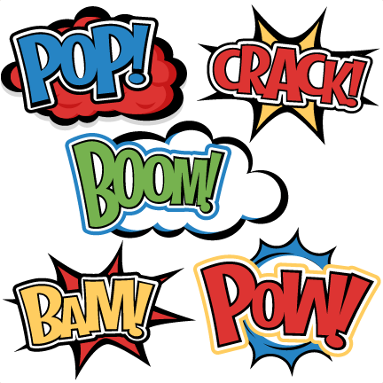 superhero words svg cutting files for scrapbooking superhero clipart rh pinterest ca