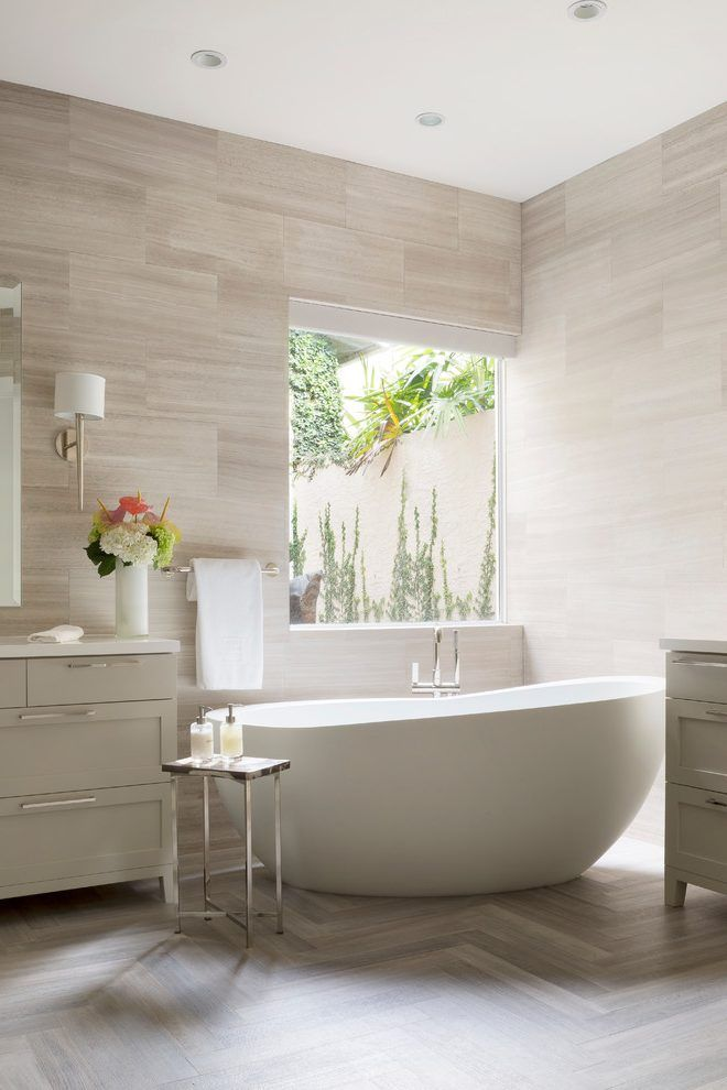 Florida Tile Streamline Bathroom Contemporary With Master Suite Modern Bathtub Fa Contemporary Bathrooms Bathroom Interior Design Contemporary Bathroom Designs