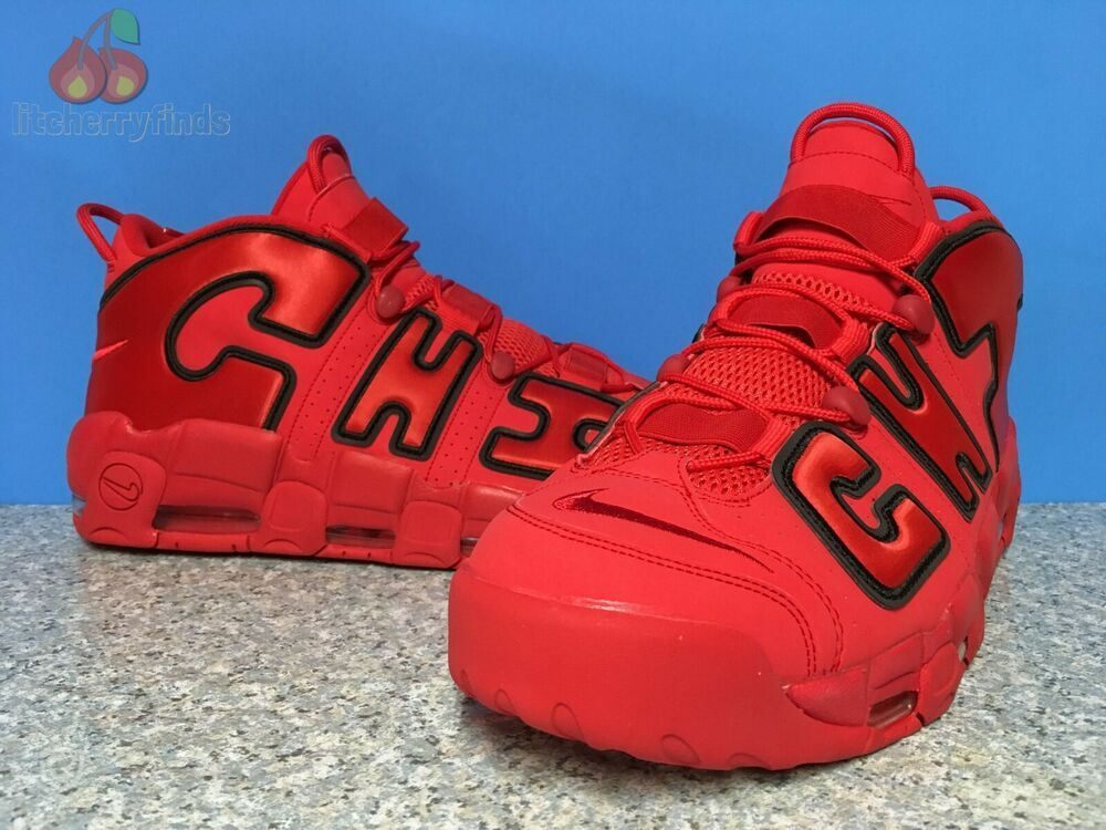 638f3b94f4ff9 Nike Air More Uptempo Chi QS Mens Size 15 Chicago University Red ...