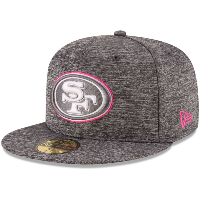 promo code 65b2f c44ae San Francisco 49ers New Era 2016 Breast Cancer Awareness Sideline 59FIFTY  Fitted Hat - Heather Gray