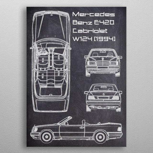 Mercedes Benz E420 CabrioleT CHALK metal poster | Displate thumbnail