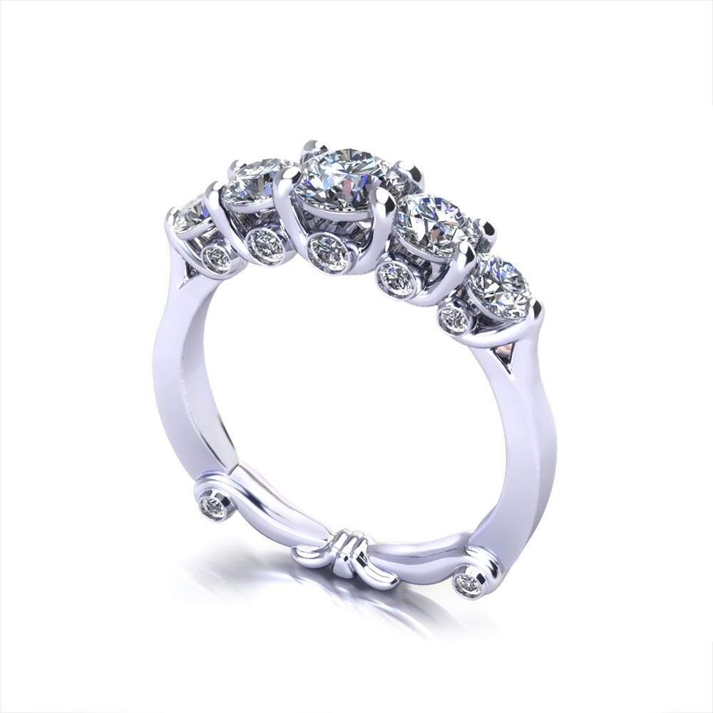 anniversary princess diamonds white gold diamond jewellery rings ring