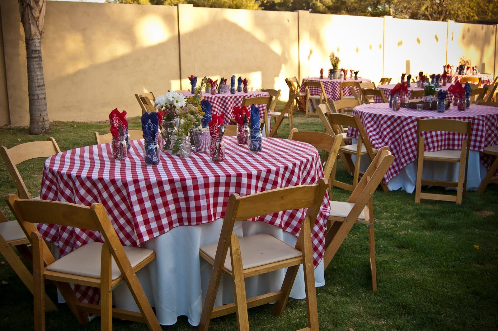 love this look for the retirement bbq party | Backyard bbq ...