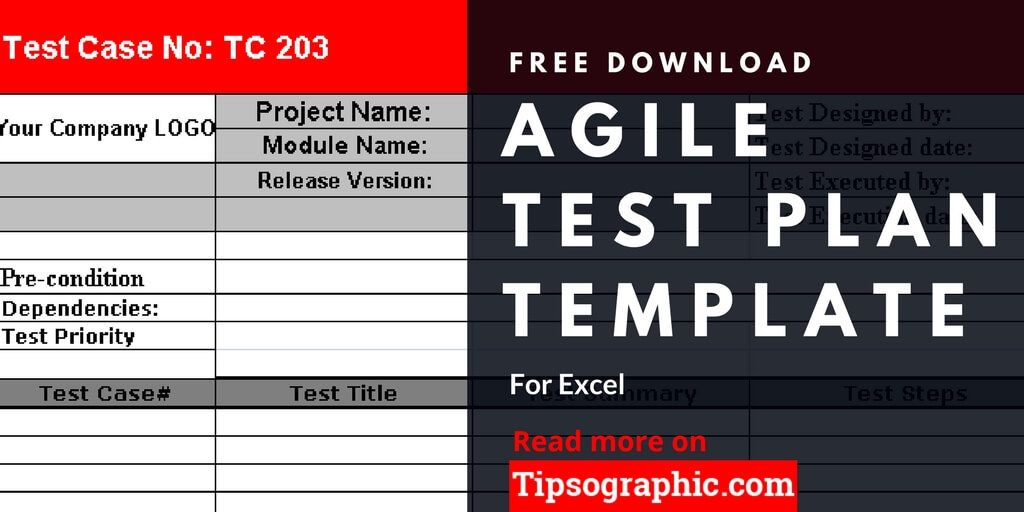 Agile Test Plan Template For Excel Free Download  Test Plan