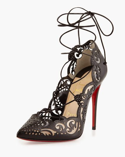 1d332b5fdf31 Pam Malek - Christian Louboutin black impera lace-up need to be in my  closet.