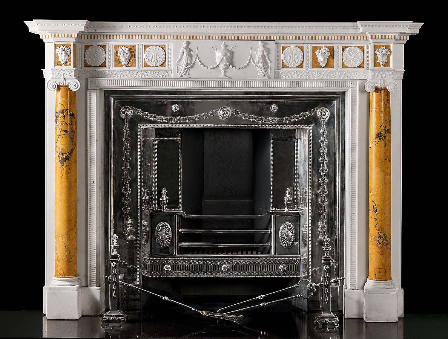 antique marble fireplace mantels. A very fine and perfectly proportioned Statuary Sienna marble  chimneypiece in the manner of James Fireplace SurroundsFireplace MantlesFireplace