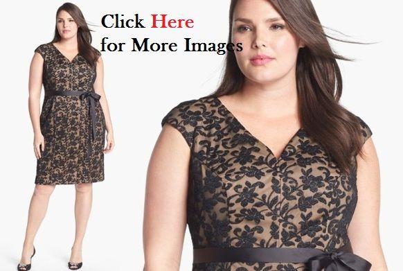 374afbe72c3 Elegant formal dresses for plus size women Lace Black Brown