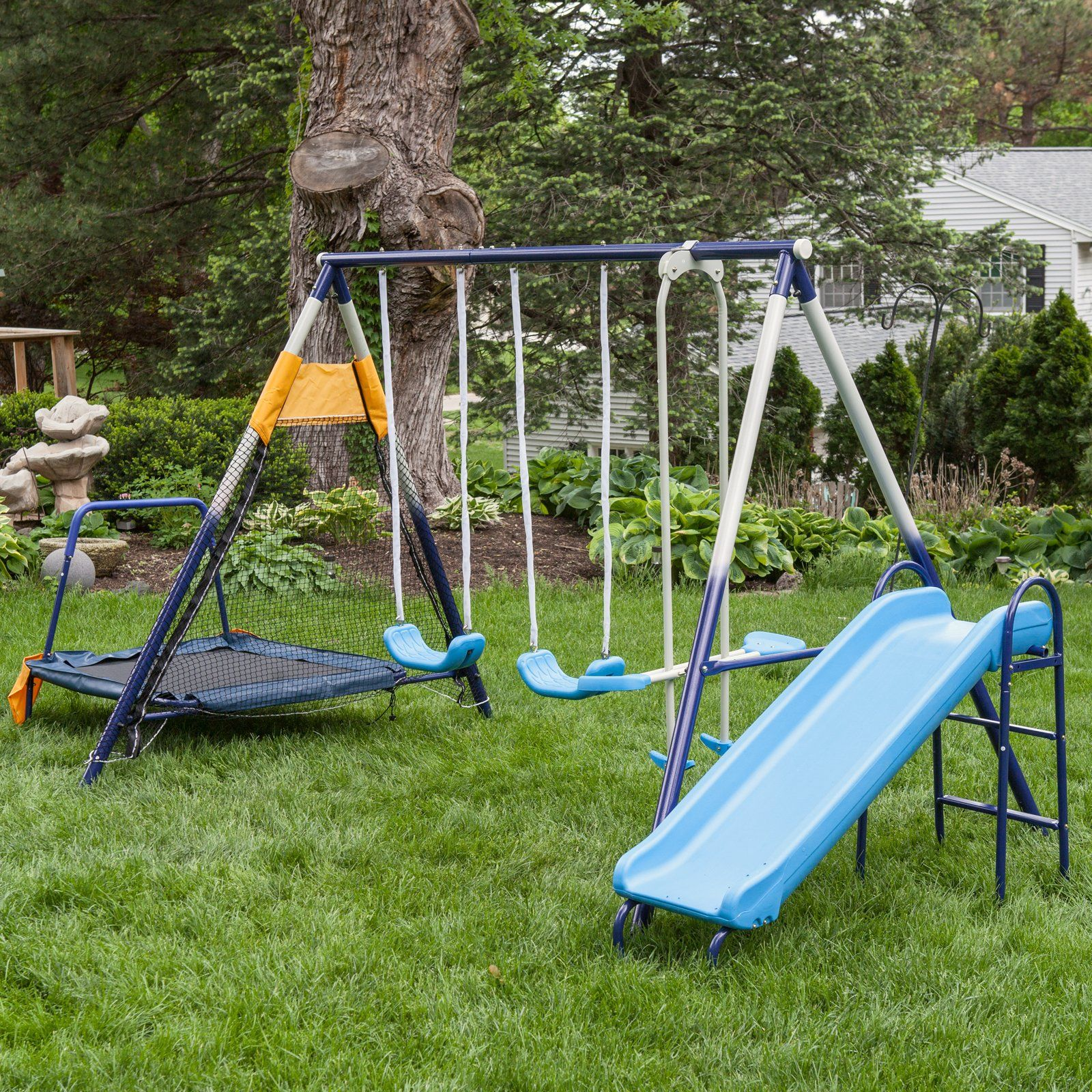 Playtime Toys Swing Sets Hayneedle Com Metal Swing Sets Swing Set Metal Swings