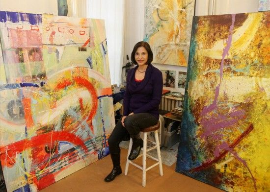 Anne Marchand at her studio on 17th Street. (Luis Gomez Photos)