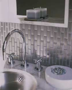 Stainless Steel Mosaic Tile 1x2 Stainless Backsplash Tiles