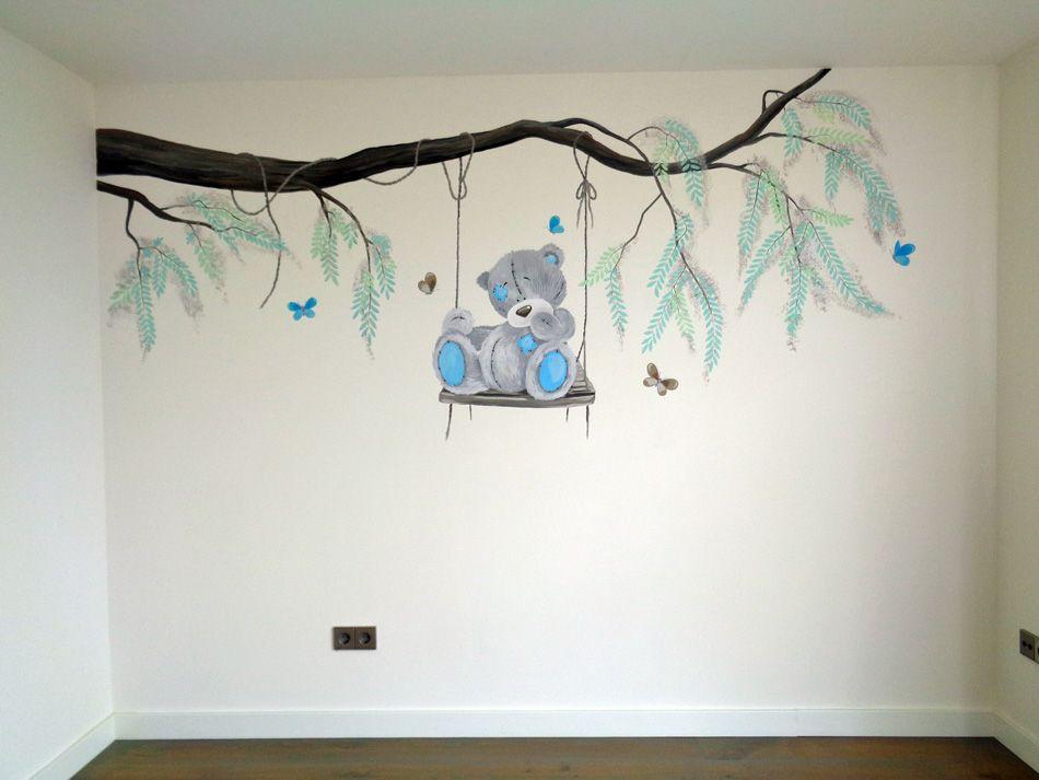 muurschilderij baby | muurschildering babykamer | pinterest, Deco ideeën
