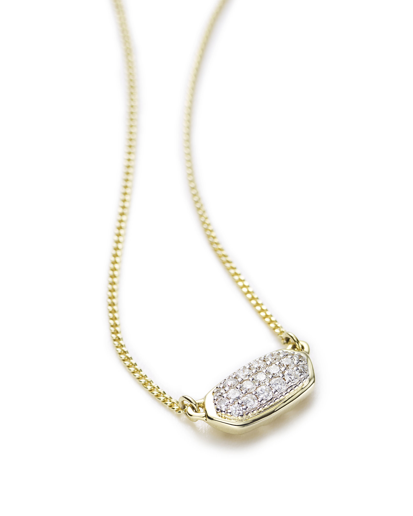 bf64048bd430b Lisa Pendant Necklace in Pave Diamond and 14k Yellow Gold in 2019 ...