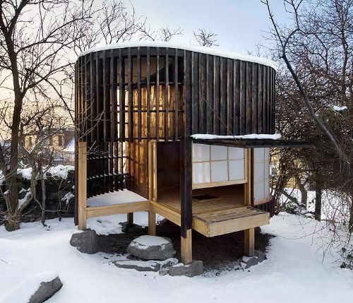 Traditional Japanese Small Room Interior Design: Traditional Japanese Teahouse In Praque By A1 Architects