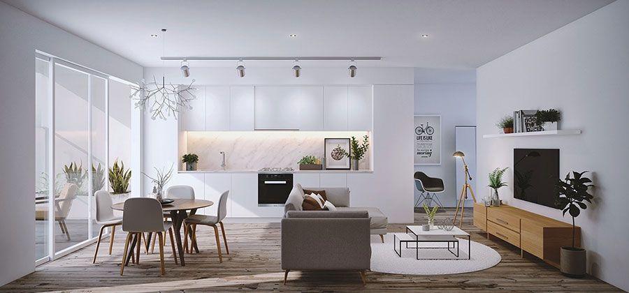 Arredare un open space cucina soggiorno moderno 04 | Interior ...