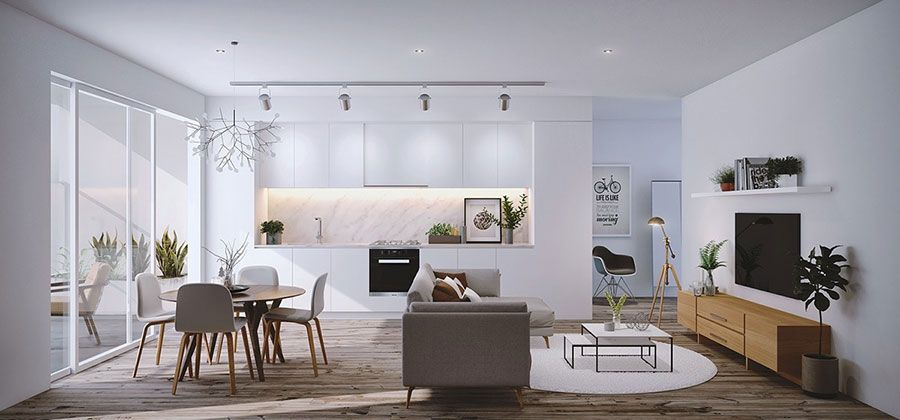 30 Idee per Arredare Salotto e Sala da Pranzo Insieme | Sala ...