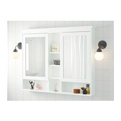 Hemnes Mirror Cabinet With 2 Doors White 47 1 4x38 5 8 120x98 Cm Mirror Cabinets Ikea Hemnes Mirror Bathroom Decor