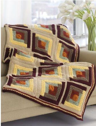 Patrones afganos ~ Dos Agujas y Crochet | lamparas, mantas y ...