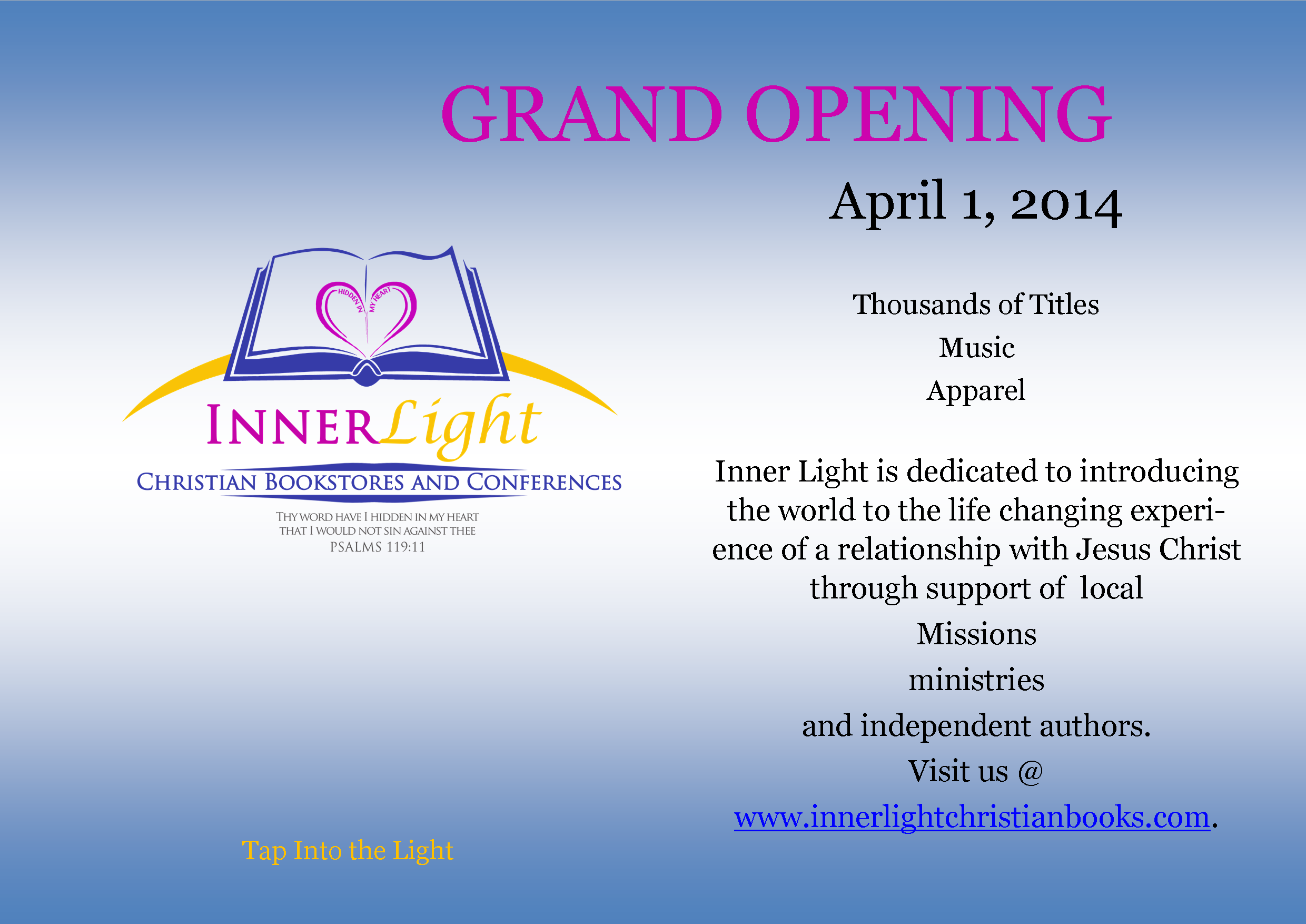 Inner Light Christian Bookstores And Conferences The Webu0027s Newest Online Christian  Bookstore. . Visit Us