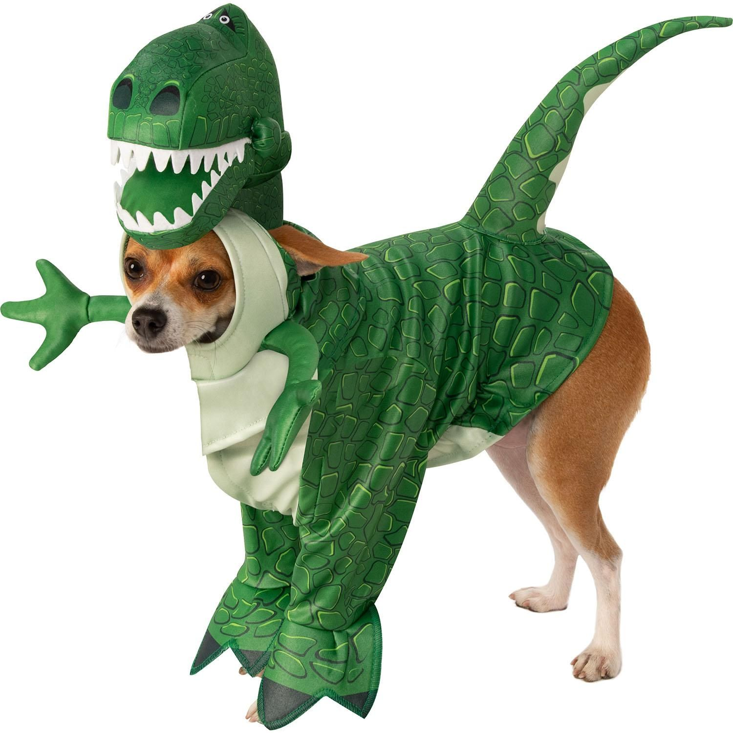 Toy Story Walking Rex Dog Costume By Rubies Pet Parade Pet Paws