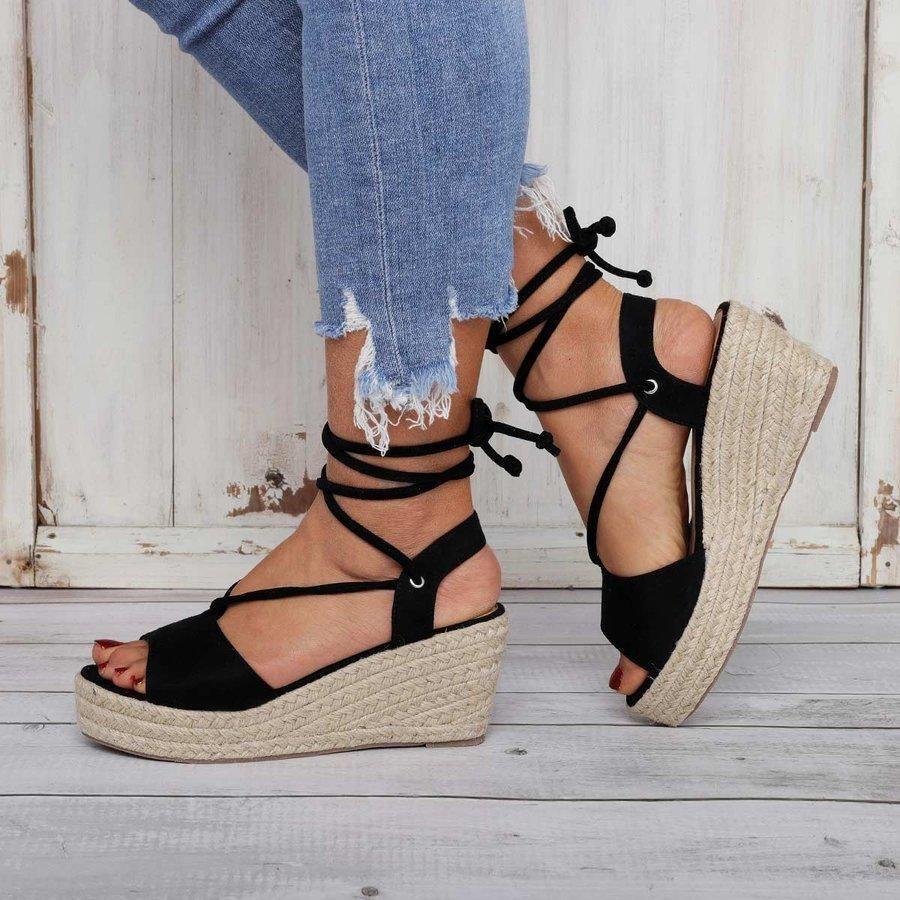 Summer Lace-Up Sandals Espadrilles