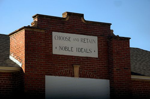 "Saint St. George GA Charlton County Elementary School ""Choose and Retain Noble Ideals"" Picture Image Photograph © Brian Brown Vanishing South Georgia USA 2013"