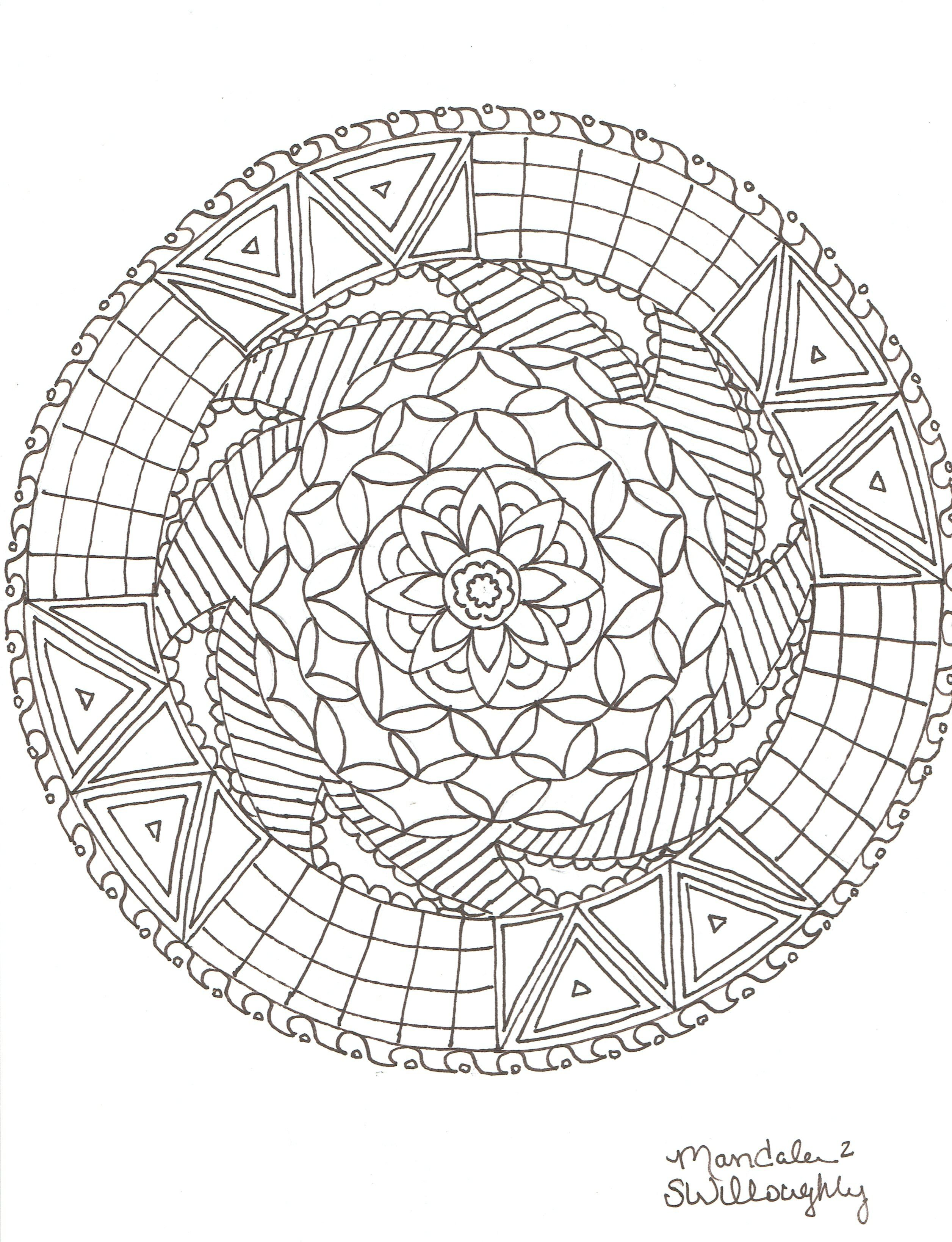 Mandala coloring page by SW   Mandalas   Pinterest   Mandala ...