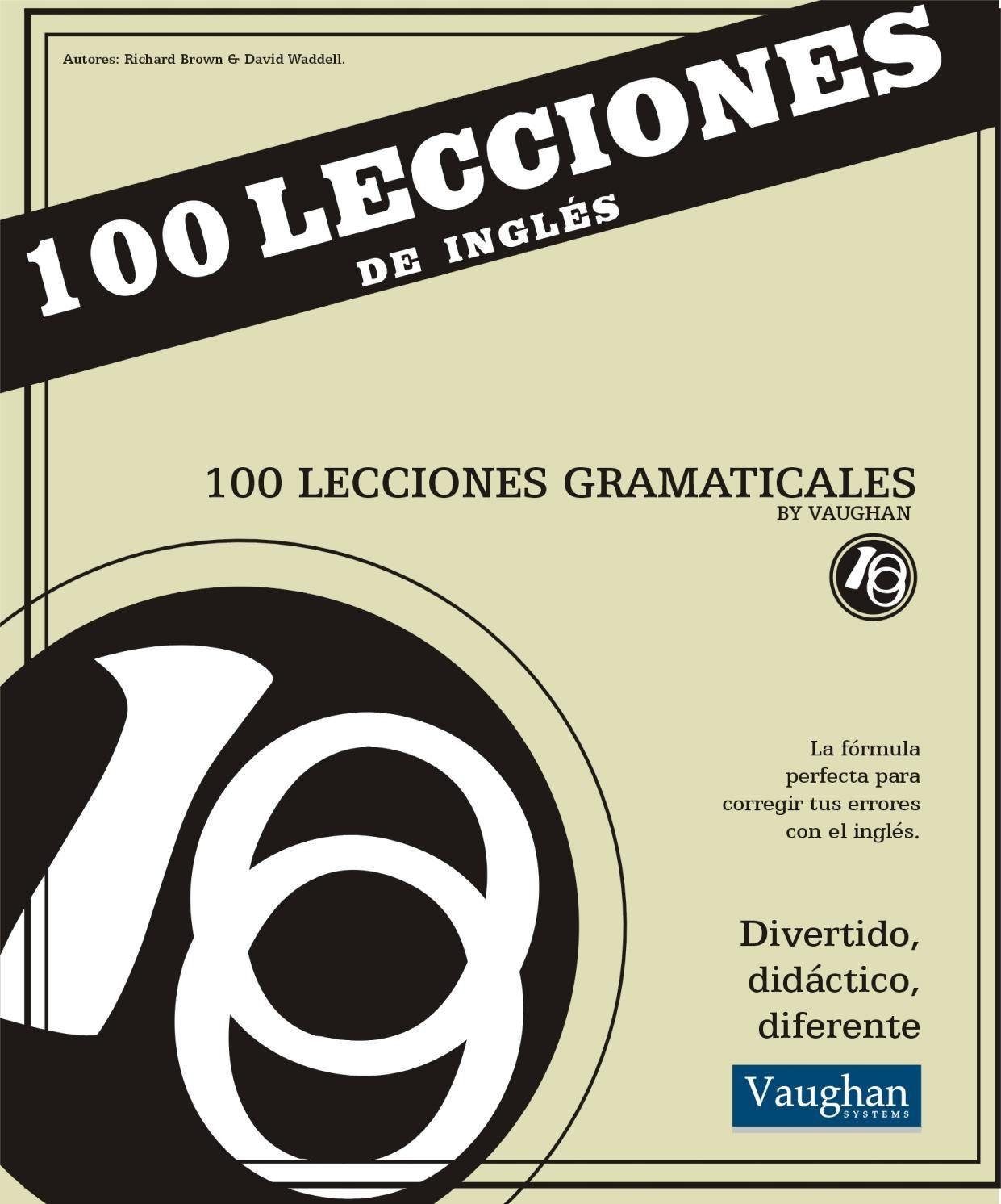 Vaughan Curso De Idiomas Ingles 100 Lecciones Gramaticales
