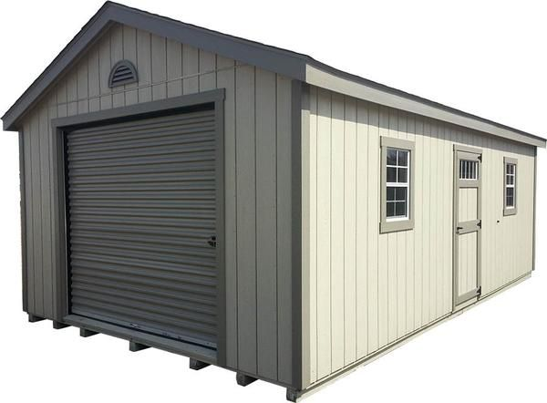 Garage - Painted w/ Deluxe Pkg | Metal buildings, Garage ...