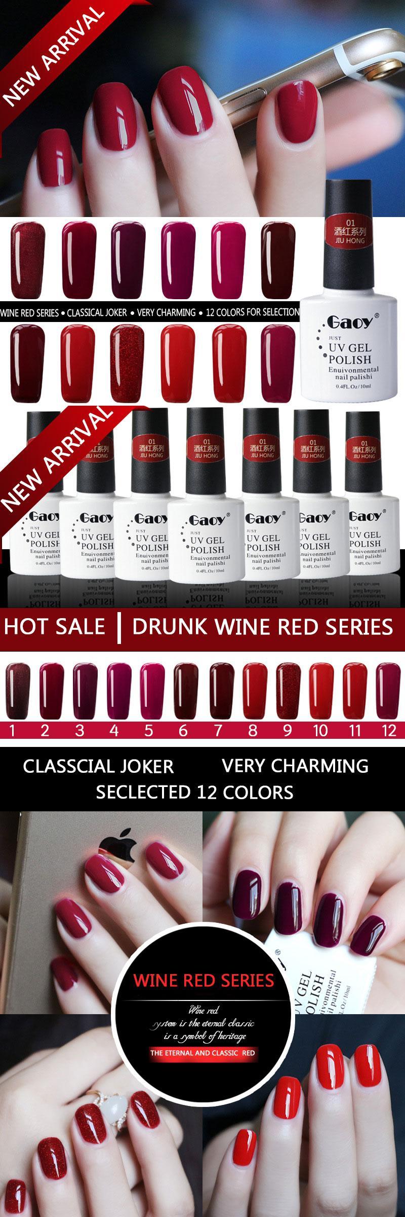 Visit to Buy] GAOY 12 Colors UV Gel Nail Polish 10ML Long Lasting ...