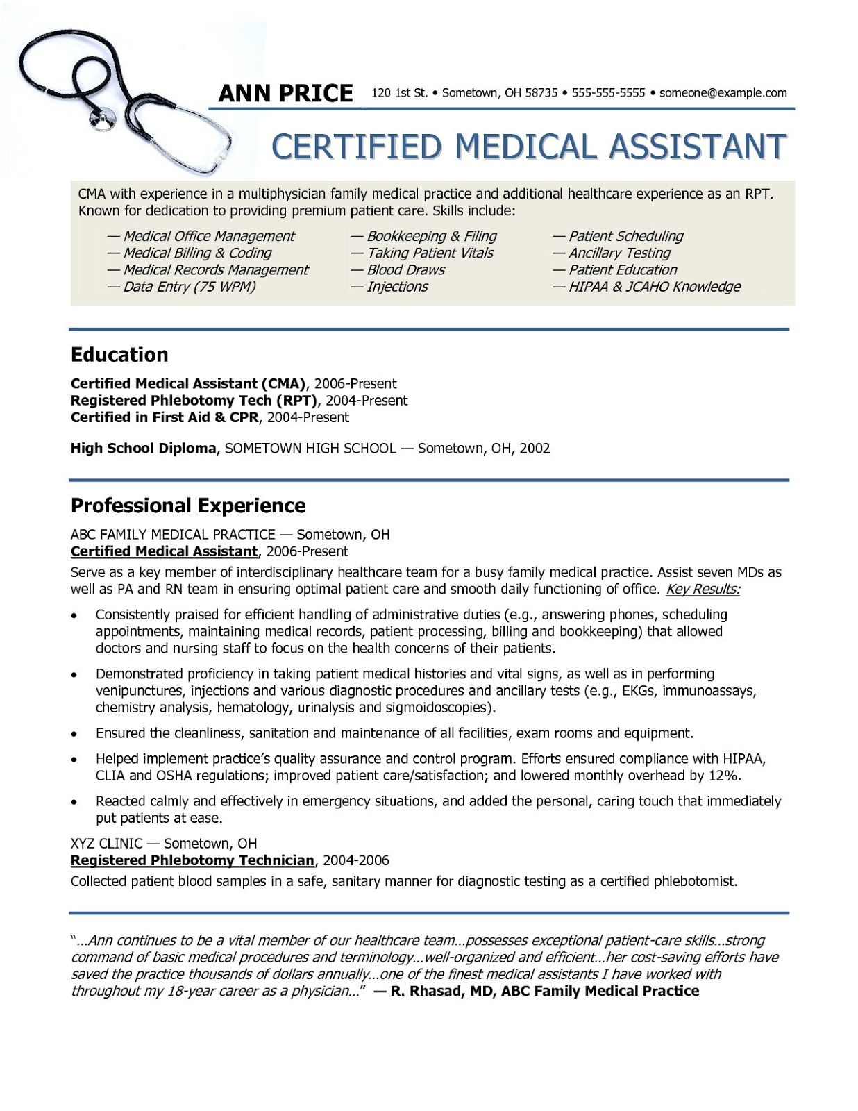 Medical Assistant Resume Examples 2019 Medical Assistant Resume Examples Medical Assistan Medical Assistant Resume Medical Assistant Skills Medical Assistant