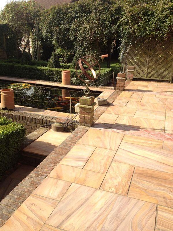 Rainbow Sawn Sandstone Paving - Natural Stone & Timber Ltd | Patio ...