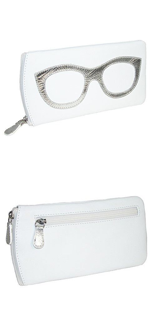 68b5de9afa6 CTM Women s Leather Eyeglass Case with Eyeglass Design