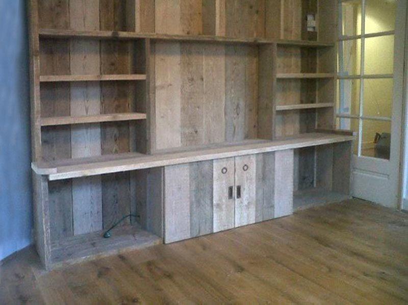 radiatorombouw boekenkast steigerhout - Google Search | home decor ...