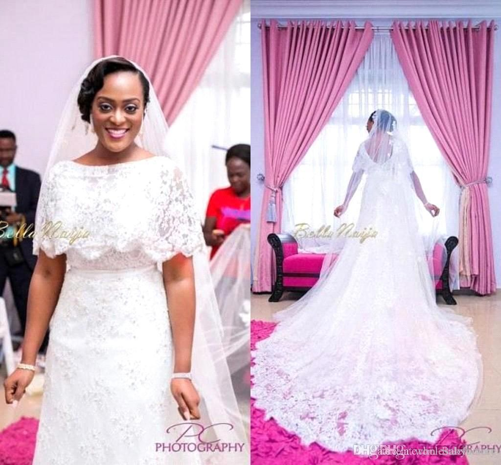 Image result for Laced wedding gown medium size for African | W ...