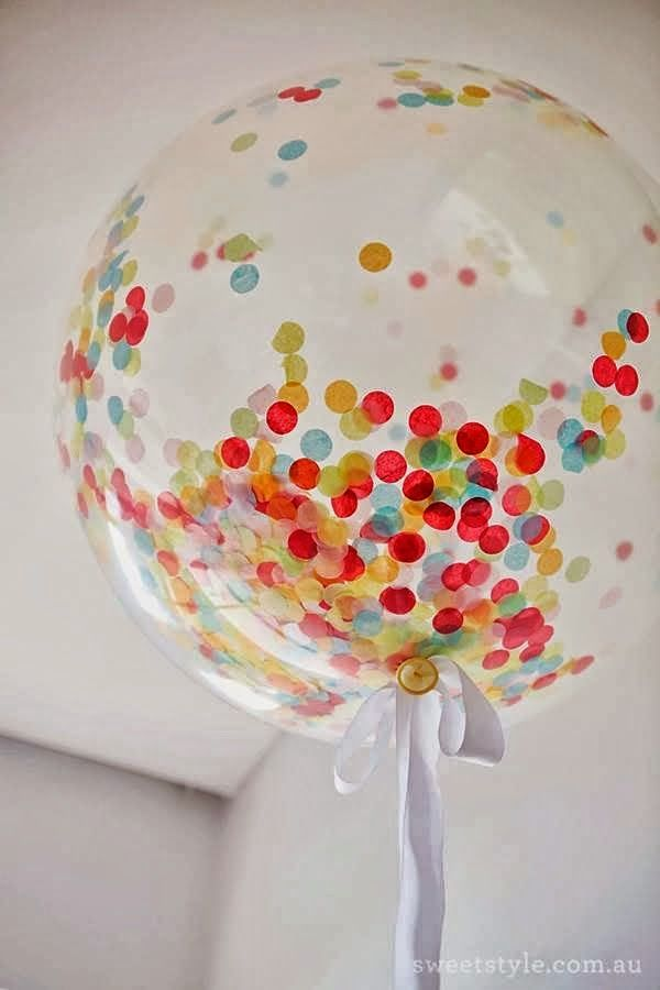 Balões e confeti