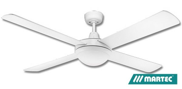 Martec lifestyle ceiling fan white with twin es light 52 1300mm martec lifestyle ceiling fan white with twin es light 52 1300mm dls1344w aloadofball Images