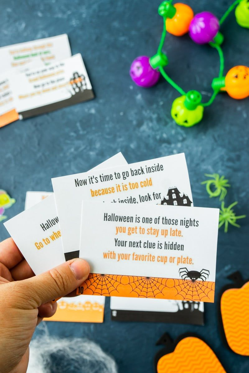 Free Printable Halloween Scavenger Hunt Christmas