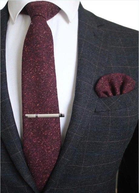New Polyester Men/'s Neck Tie /& hankie solid formal wedding prom silver gray
