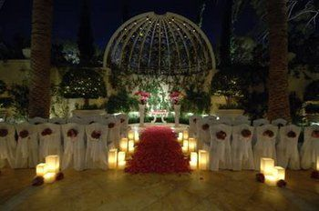 Evening Wedding Primrose Courtyard The Wynn Las Vegas