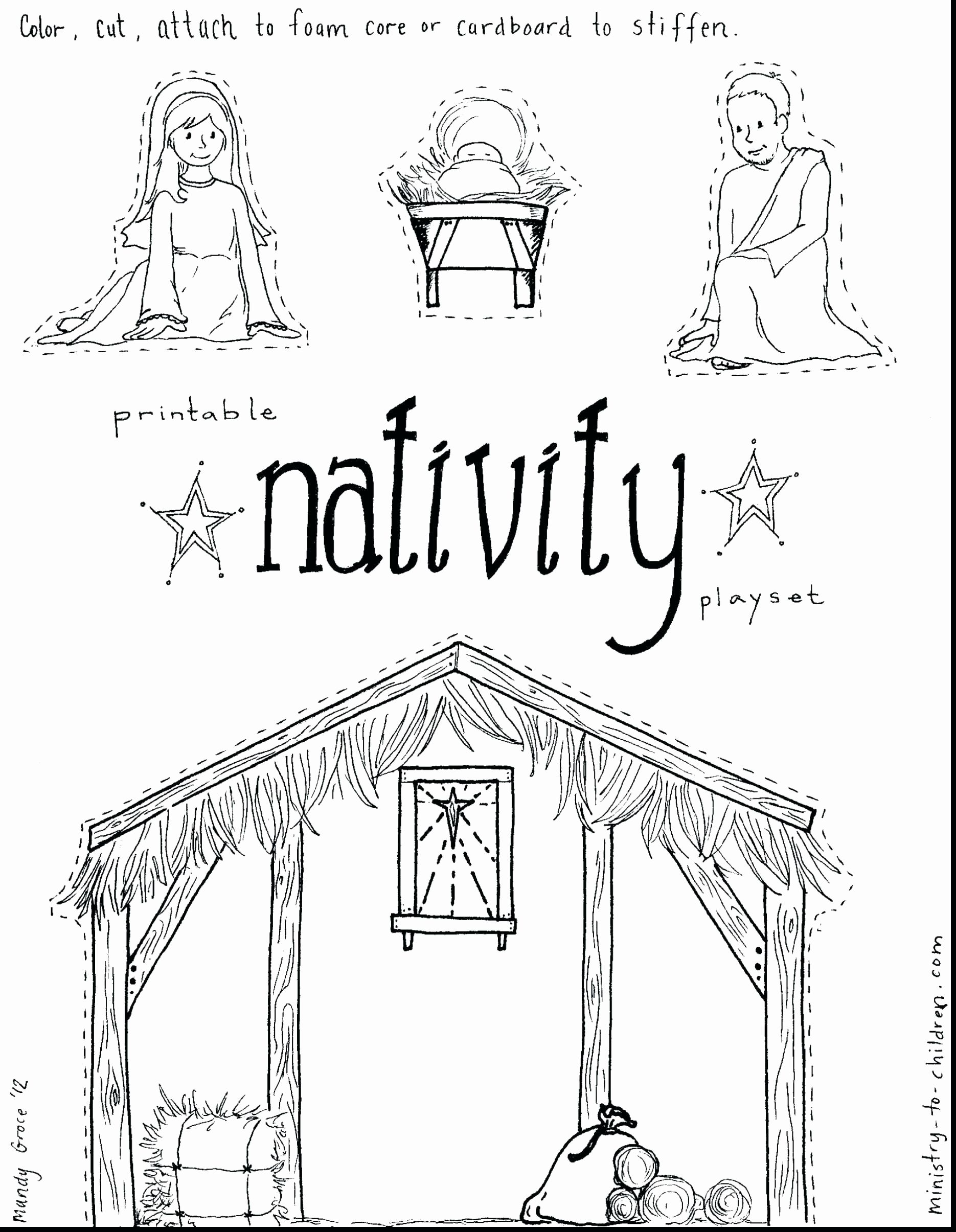 Christmas Manger Printable Coloring Pages Reli