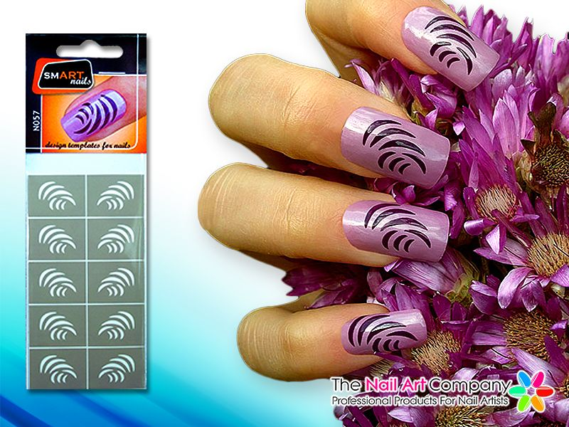 The Nail Art Company Smart Nails Slide Nail Art Stencil Set N057