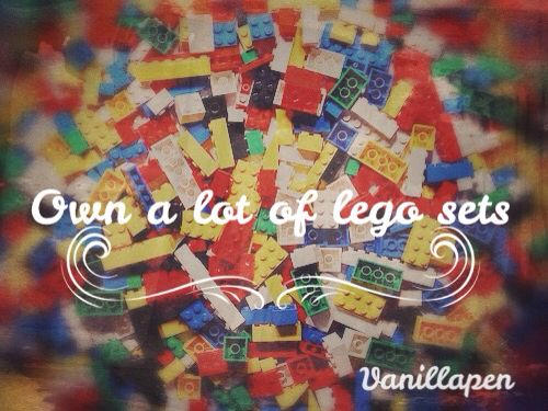 No matter how old you are, you can never say no to a lego set!!