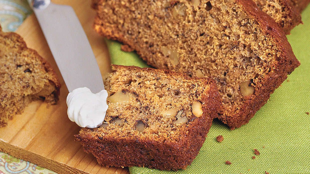 Recipe: Banana-nut Bread from Southern Living   This sweet bread has less oil than most traditional recipes, but you won't miss it. Extra bananas keep it moist.