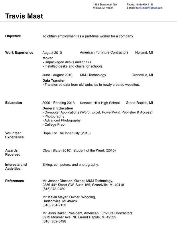 Work Resume Template -   wwwjobresumewebsite/work-resume - Work Resume Template Word