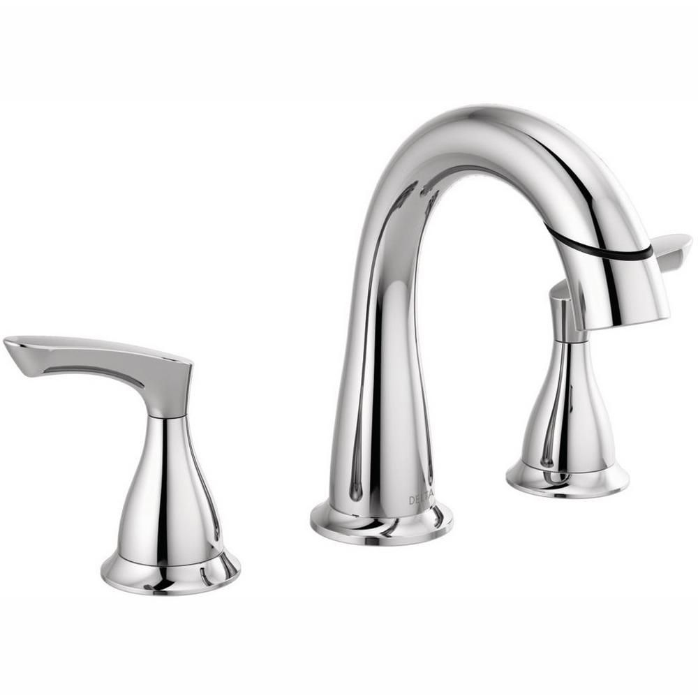 Delta Broadmoor 8 In Widespread 2 Handle Bathroom Faucet With Pull Down Spout In Chrome 35765lf Pd The Home Depot In 2021 Bathroom Faucets Lavatory Faucet Faucet [ 1000 x 1000 Pixel ]