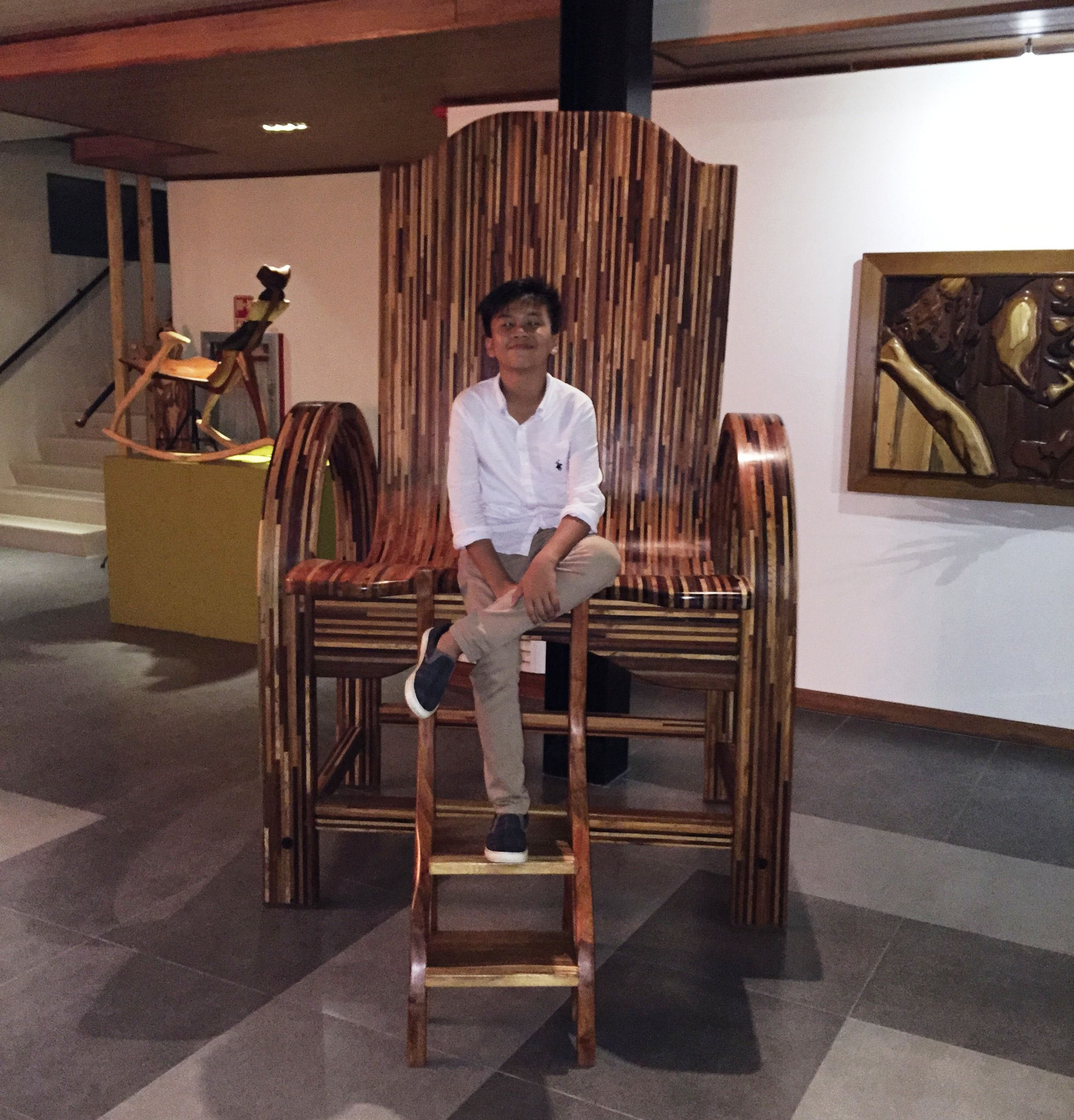 Attractive Oversized Wooden Chair   A Furniture Seen At Green Canyon Resort,  Philippines, During A Family Memberu0027s Wedding. #GreenCanyonResort  #GreenCanyon