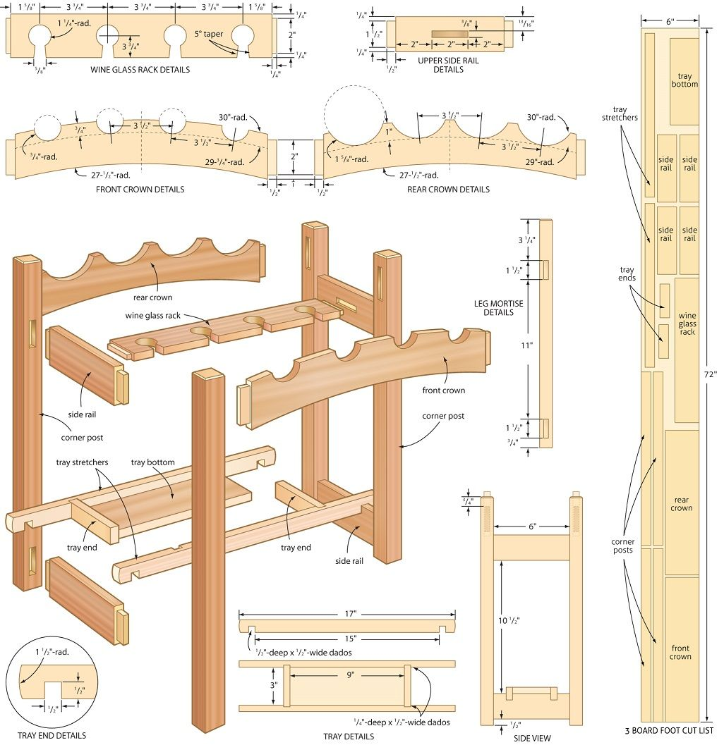 150 Highly Detailed Woodworking Projects & EBooks Wine