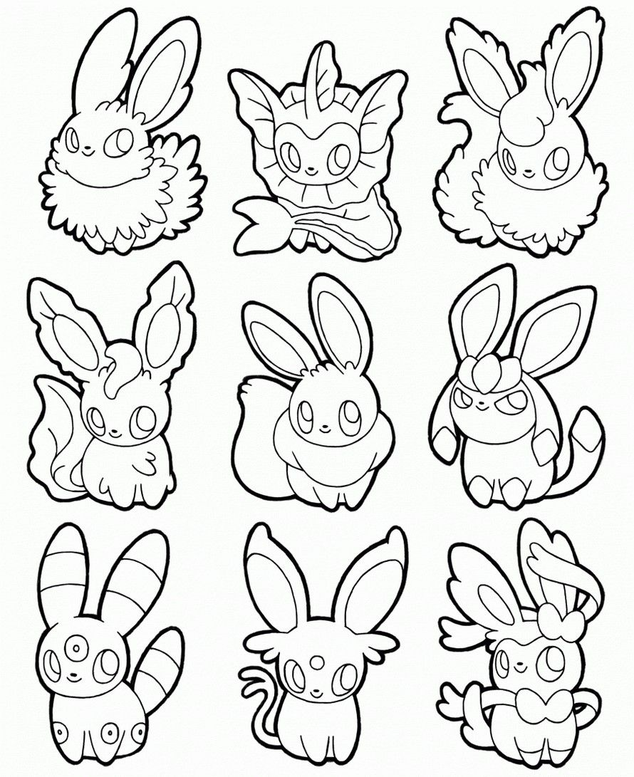 Pokemon Coloring Pages All Eevee Evolutions Pokemon Coloring Pages Pokemon Coloring Sheets Pokemon Coloring